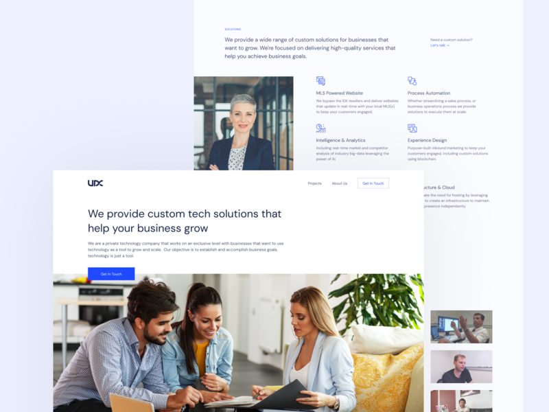 Website Redesign for a Software Development Company software business minimal neat clean landing page web design website
