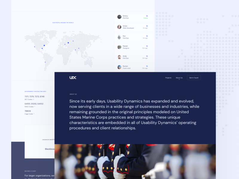 About Us Page for a Software Development Company software business minimal neat clean about us page web design website
