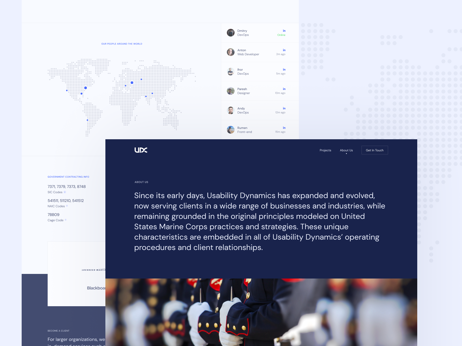About Us Page For A Software Development Company By Levon Saribekyan For Zajno Crew On Dribbble