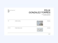 Felix Gonzalez-Torres — Experiments