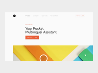 Promo Website Animation for Pocket Multilingual Assistant