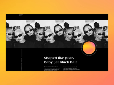 Promo Website Animation for Anderson. Paak's New LP micro animation page scroll animation brutal music mesh gradient bold typography elegant neat layout simple clean grid ui ux data visualization visual exploration experimental experiment animated website web design zajno