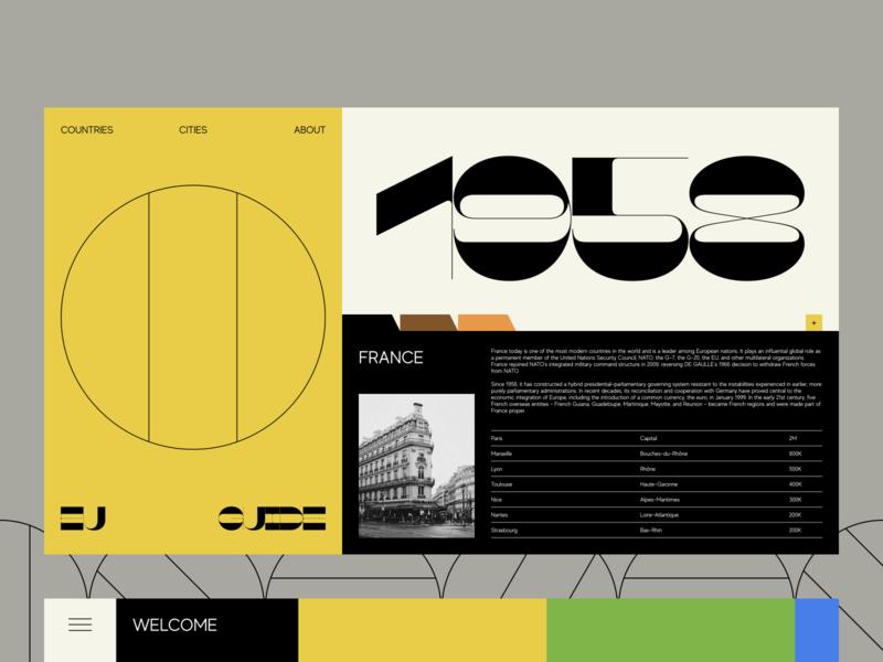Guide to Europe Website Design fashionable trendy extravagant stylish experimental experiment innovative brutal solution data visualization minimalist progressive minimal typography bold anti ux simple ui ux web design zajno