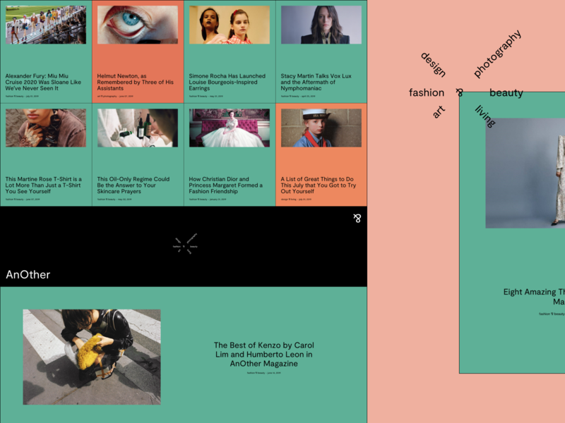 Experimental Website Design For An Online Fashion Magazine By
