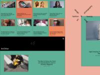 Experimental Website Design for an Online Fashion Magazine