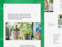 Landing Page for Eco, Self-watering Origami Plant Pots
