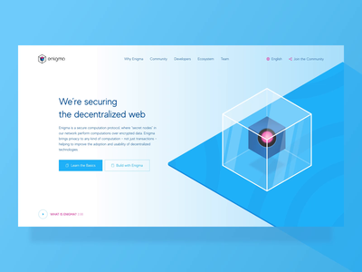 Enigma Data Privacy Startup Website: Button Hover Effects micro interaction clean hover effect button animation ui ux icon simple vector colors logo minimal flat transparent cube security data privacy decentralized blockchain visual zajno