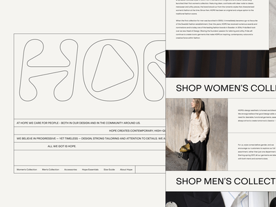 Website Design for High-Quality Fashion Brand clean flat typography experiment fashion design web website zajno