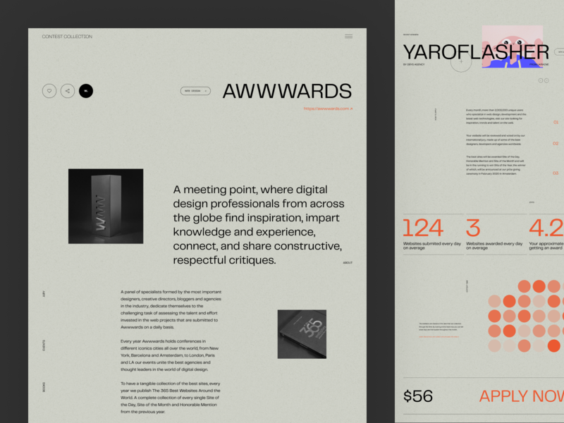 Website for Finding Design Contests and Awards award service flat typography design web website zajno