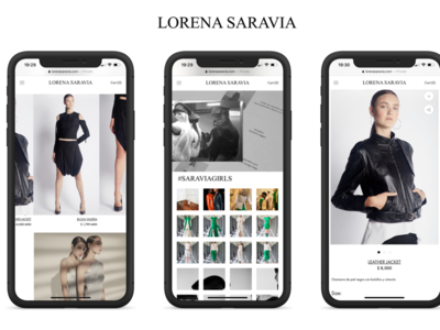 Web Design for LORENA SARAVIA'S E-Commerce