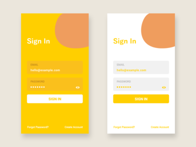 Daily UI Challenge - #1 Sign In