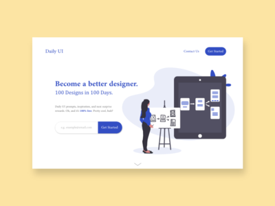 Daily UI - #3 Landing Page