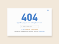 Daily UI - #8 404 Page