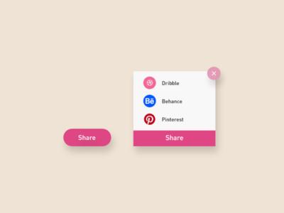 Daily UI - #10 Social Share