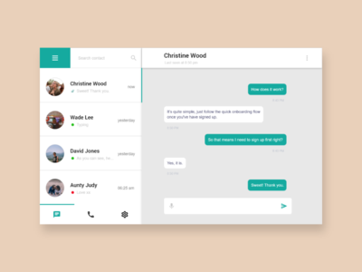 Daily UI - #13 Direct Messaging