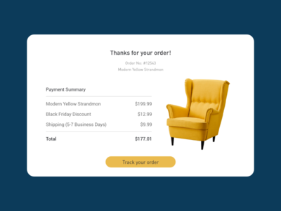 Daily UI - #17 Email Receipt