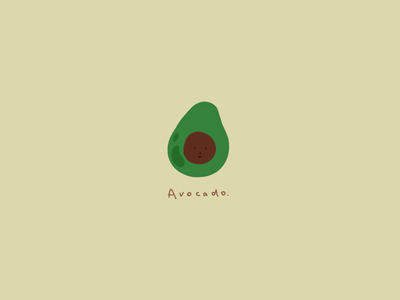 Illustration: breakfast time - avocado