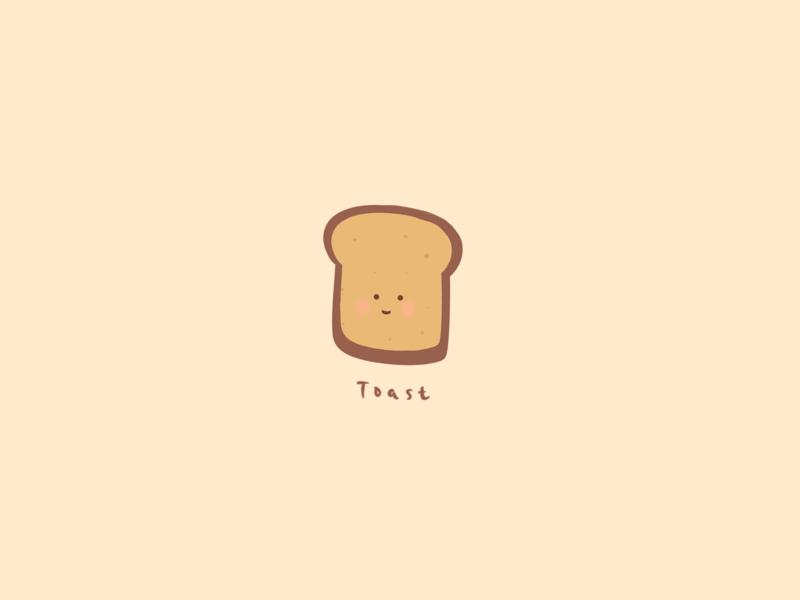 Illustration: breakfast time - toast procreate illustration