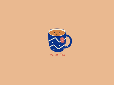 Illustration: breakfast time - milk tea