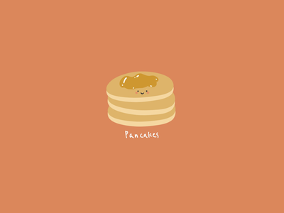 Illustration: breakfast time- pancakes