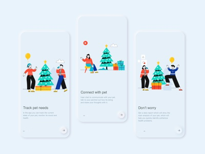 Pseudo-materialization guide page app typography illustration design 插图 ux ui