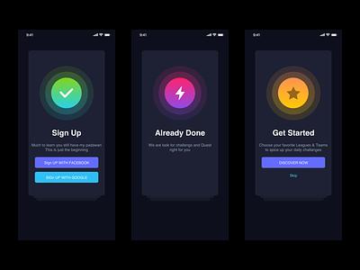 Team application login interface 品牌 插图 应用 设计 图标 ux ui
