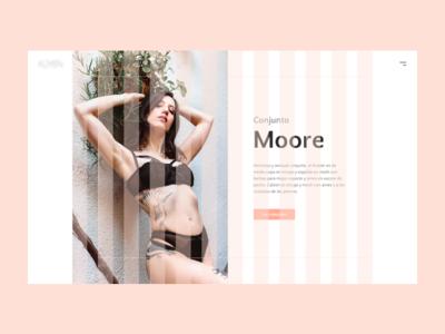 Küyen Lingerie columns grid ux ui wip lingerie design web