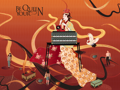 be your queen new painting illustration