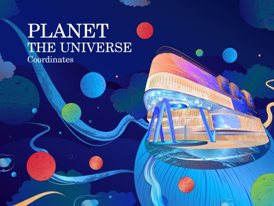 planets of the newbron adventure shinng planets design new painting illustration