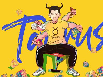 Taurus taurus new painting illustration