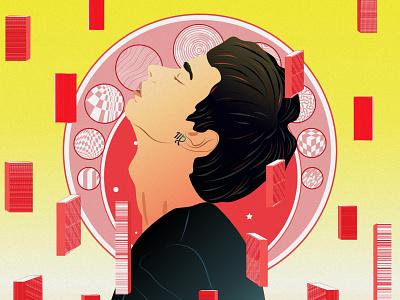 virgo virgo constellation debut design painting new illustration