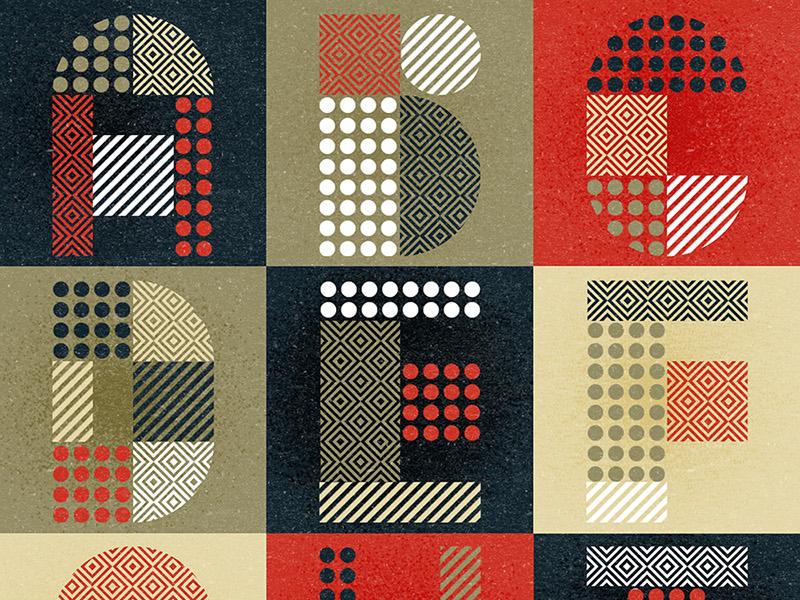 Modular  (Free Font) typography color colour alphabet illustration letters experimental graphic