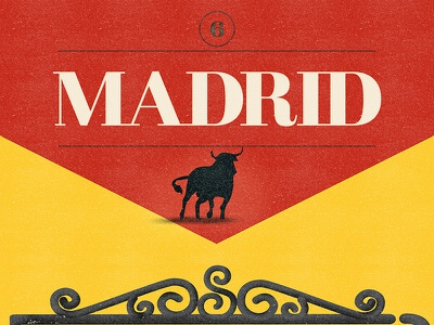 Madrid  (Free Font) free font alphabet color colour experimental graphic illustration letters typography
