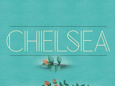 Chelsea (Free Font) free font alphabet color colour experimental graphic illustration letters typography