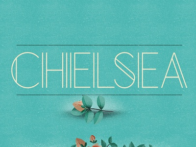 Chelsea (Free Font) free font alphabet color colour experimental graphic illustration letters typography