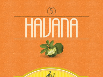 Havana (Free Font) free font alphabet color colour experimental graphic illustration letters typography