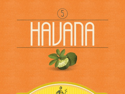 Havana (Free Font) free font alphabet color colour experimental graphic illustration letters typography
