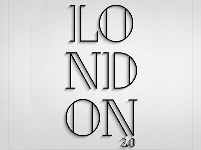 London (Free Font) free font alphabet color colour experimental graphic illustration letters typography