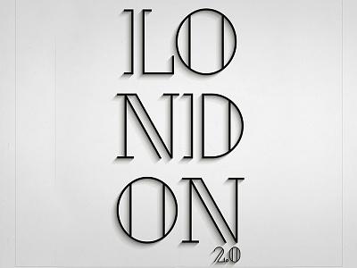 London (Free Font) free font alphabet color colour experimental graphic illustration letters typography