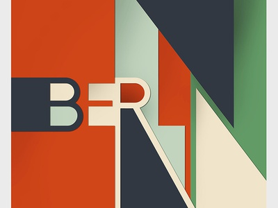 Berlin (Free Font Family) free font alphabet color colour experimental graphic illustration letters type typography