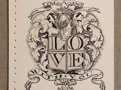 The Love Booklet handmade experimental graphic illustration lettering type typography