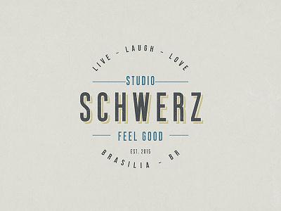 Dribble minimalist hipster feel good schwerz studio typography type branding
