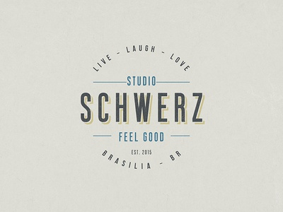 Dribble minimalist hipster feel good schwerz studio typography type branding