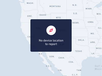 No Device Location State location map edge case empty state error