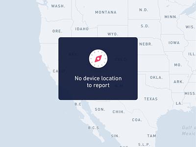 No Device Location State location map edge case empty state error