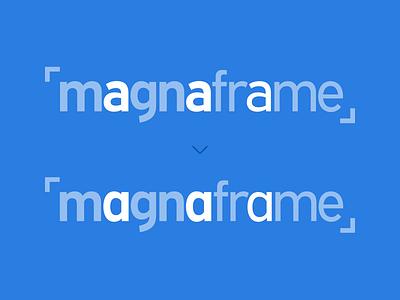 Magnaframe Logo Process typography expressway brand identity design logo