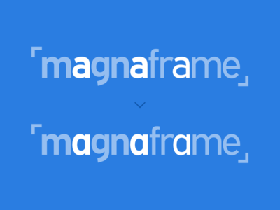 Magnaframe Logo Process
