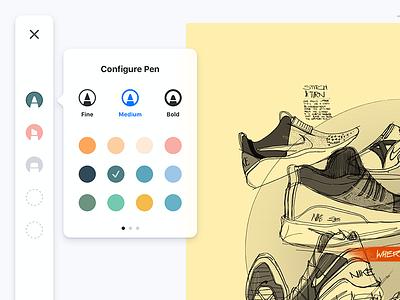 Sketching UI for iPad palette gray white minimal ui ios ipad draw sketch