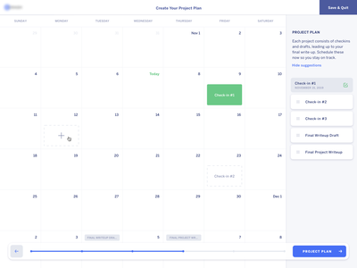 Project Scheduling Interface progress bar wizard calendar design interface schedule calendar form web design design sketch mnml minimal web ui