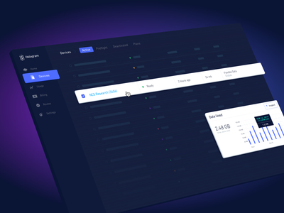 Hologram Dashboard v4 data nav status lighting dramatic purple sketch preview dashboard dark illustration web design ui